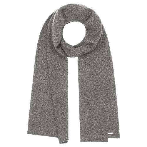 Stetson Cashmere Wool Strickschal - Schal Damen/Herren - Winterschal Made in Italy - Wollschal aus 100% Kaschmir - Kaschmirschal Herbst/Winter grau