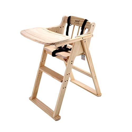 Chaise de camping en plein air Silla de bebé ajustable, Silla de madera maciza comedor infantil, plegable portátil bebé Silla de comedor, mesa de estudio, Intensificación de heces, 80 * 60 * 44cm, Pes