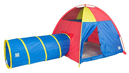 Purchase Pacific Play Tents Hide-Me Tent and Tunnel Combination-Blue