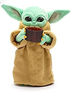 Disney Star Wars The Mandalorian The Child Grogu with Cup Soft Plush Toy - Baby Yoda