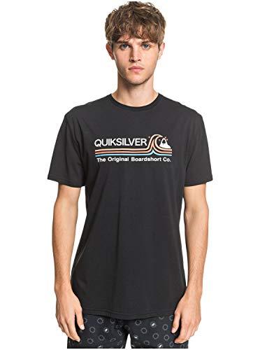 Quiksilver Stone Cold Classic - Maglietta Da Uomo Maglietta, Uomo, black, L