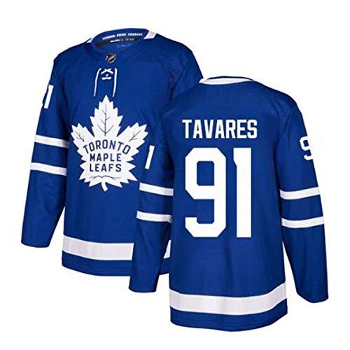 WANGT Herren Eishockey Trikots, Toronto Ahornblätter 44 Rielly 88 Nylander GENÄHTE Buchstaben Zahlen Langarm T-Shirt Atmungsaktive Sweatshirts,91,L