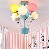 HSART Colorful LED Balloon Chandelier,Creative Personality Balloon Pendant Light,Chandelier Children Room Boy Girl Bedroom Ceiling Lamp,White Light,6 Heads