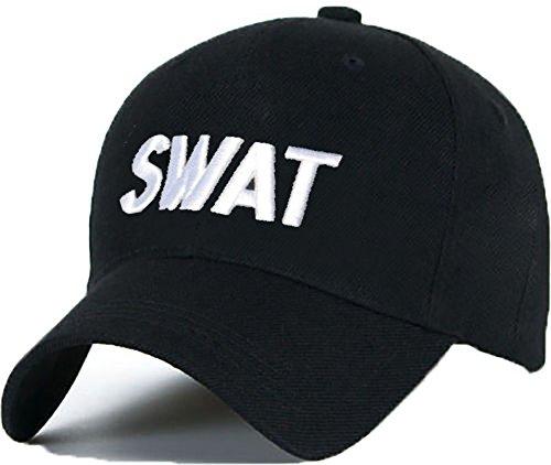 Bonnet Casquette Snapback Baseball SWAT OMG 1994 Hip-Hop en Noir/Blanc avec Les ASAP Bad Hair Day (White)