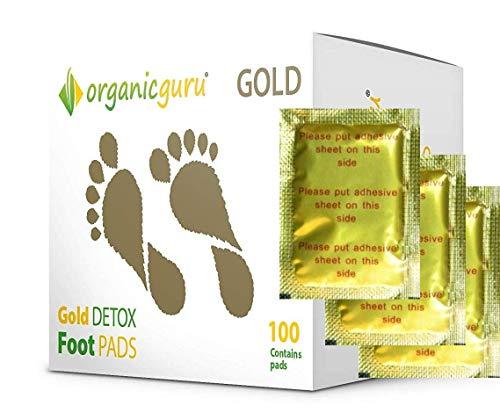 100 x OrganicGuru GOLD Detox - Pflaster, Fußpflaster Vorrat für 50 Tage, Fusspflaster Pflaster Pad Entgiften Entgiftung Detox