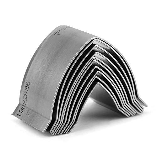 Punch Cutter de cuero, 10pcs Hierro Herramienta de cuero Craft DIY Troqueladora de cuero para Crafting Correa, bolsa, cinturón, cartera(sharp end)