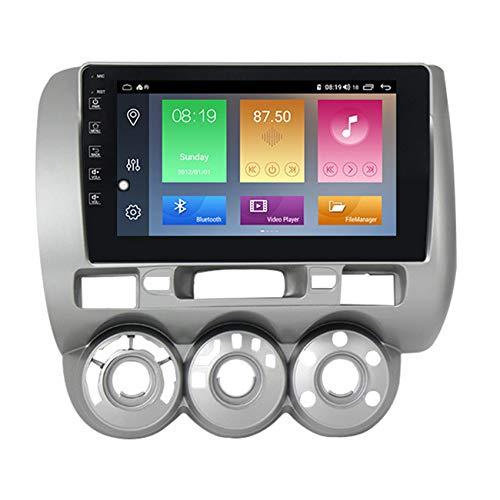 Amimilili Radio de Coche para Honda Jazz City 2002-2007 Autorradio Multimedia Navegación GPS Android10 DSP 4G Mandos del Volante WiFi Manos Libres Bluetooth+Cámara Trasera,M300 3+ 32g