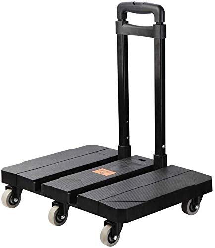 DEE Multifunktions-Einkaufswagen-Industriewagen-Hochleistungswagen, 200Kg, 6 Gummiräder Einkaufswagen-Lebensmittelgeschäft-Faltbarer Haus-, Büro-, Reise-, Hand-Lkw-Speicher-Gebrauchslaufkatze