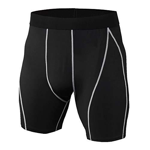 YUNSW Pantalones Cortos Deportivos para Hombres Pantalones Cortos Deportivos Ajustados para Correr Y Entrenamiento Deportivos Pantalones Cortos Transpirables De Compresión Elástica De Secado R