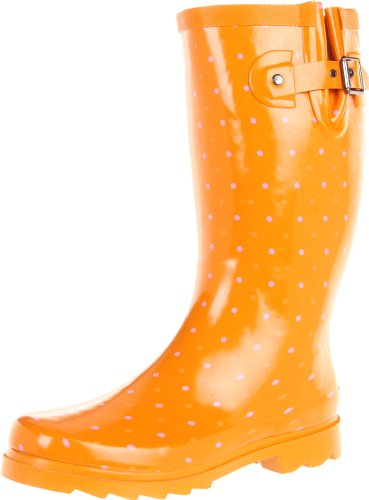 Hot Sale Chooka Women's Classic Dot Boot,Orange,10 M US