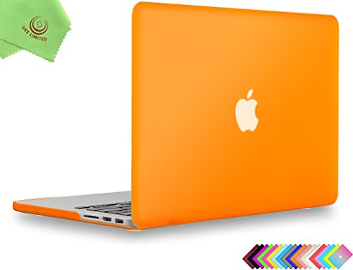 UESWILL Smooth Matte Hard Case for MacBook Pro (Retina, 13 inch, Early 2015/2014/2013/Late 2012), Model A1502/A1425,No USB-C, No CD-ROM, Orange