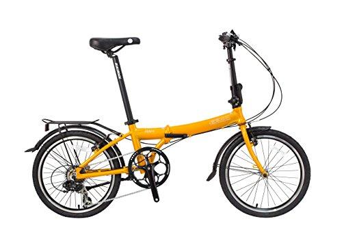SoloRock Tides 20' 7 Speed Aluminum Folding Bike (Pearl Orange)