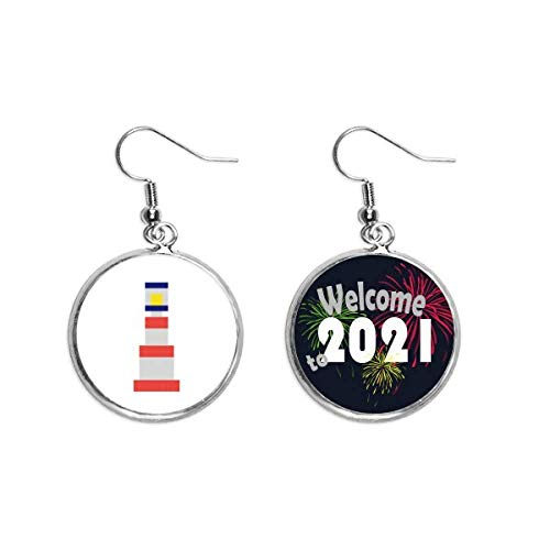 Boucles d'oreilles pendantes en forme de tour de voile d'été - Style art déco - Cadeau tendance - Bijou de bénédiction 2021