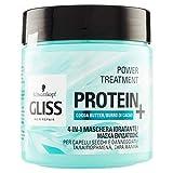 Gliss - Mascarilla Capilar Hidratante 4 En 1 - Para pelo normal - Con Manteca De Cacao - 400Ml, Fórmula vegana y sin colorantes artificiales