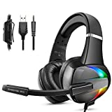 Cascos PS4, Auriculares con Micrófono Flexible, 50mm Driver