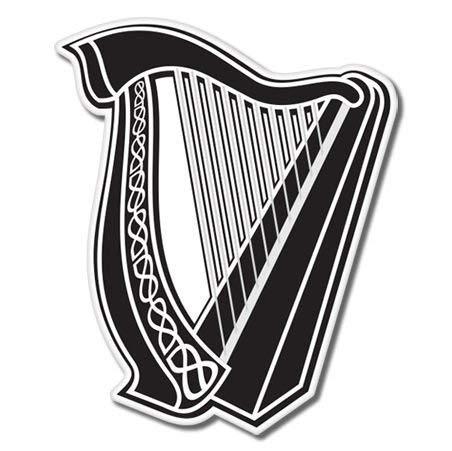 Celtic Harp Lyre Vinyl Sticker - Car Phone Helmet Bumper Sticker Decal