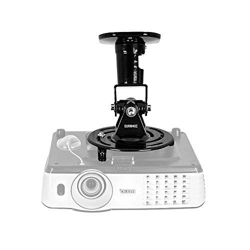 Duronic PB01XB Beamer Halterung | Projektor Deckenhalterung | Universal Wandhalterung | Halterung für Video-Projektor | drehbar und schwenkbar | Heimkino | Traglast bis zu 10 kg | 360° Rotation