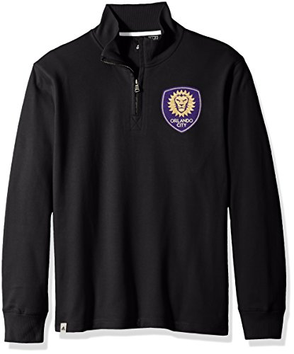 adidas Adult Men MLS Crest Lifestyle 1/4 Zip, Black, Small