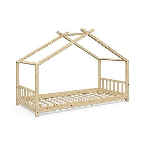 VitaliSpa Design Hausbett aus Massivholz