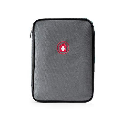 SQZQ Kit di Primo Soccorso, Kit di Pronto Soccorso di Viaggio Kit di Primo Soccorso della Famiglia Kit di Primo Soccorso Mini,Gray