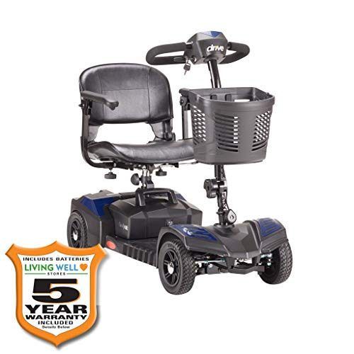 Fantastic Deal! Drive Medical Spitfire Scout 4-EXT 4 Wheel Travel Power Scooter with Extended 15 Mil...