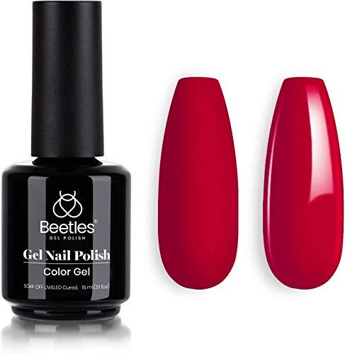 Beetles Gel Nail Polish- Rebecca Red Color Gel Polish Soak Off Nail Lamp...