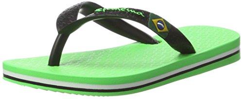 Ipanema Unisex-Kinder Classic Brasil II Kids Zehentrenner, Mehrfarbig (Green Black 8056), 27/28 EU