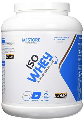 Iafstore Supplements Iso Whey integratore alimentare con proteine del siero di latte isolate a marchio Isolac (Cioccolato) 1500 g