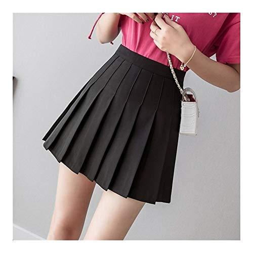 Falda plisada de cintura alta para mujer, linda y bonita, para bailar, para cosplay, color negro y blanco