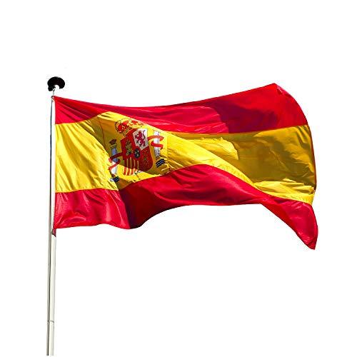 KliKil Spanische Flagge Balkon Deko -1 pcs -Flaggen Fahnen Fanartikel 90 x 150 cm Flagge von Spanien Polyester mit Metall-Ösen