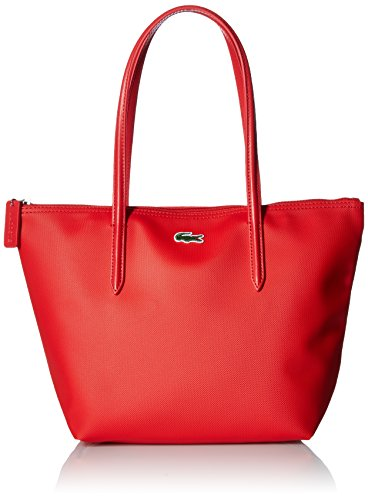 Lacoste Womens L.12.12 Small Tote Bag Shoulder Handbag, High Risk Red, One Size
