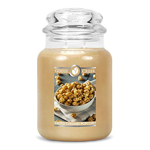 Goose Creek Candle® Salted Caramel Popcorn - Candela a 2 stoppini, 680 g