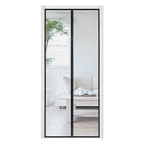 wolketon Mosquitera magnética para puerta, 90 x 210 cm, cierre automático para puerta de balcón, sótano, terraza, montaje fácil, sin taladrar