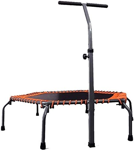 BRFDC Trampolin Fitness Deportes Cubierta Plegable trampolín for Uso Particular con la manija Estable Bar y un Cable de suspensión