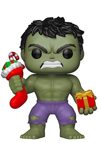 Funko 33984 POP Bobble: Marvel: Holiday Hulk w/ Stocking and Plush 33984