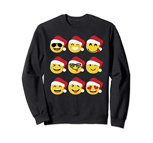 9 Emojis Papa Noel Original Regalo Navidad para Mujer Hombre Sudadera