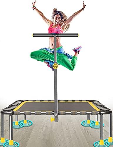 Fitness Trampolin Max. Laden Sie 220lbs Einfache Installation Klappbar Mini Trampoline für Kinder Indoor Zuhause Jumping