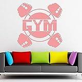 Levantamiento de pesas etiqueta de la pared vinilo deporte culturismo barra etiqueta de la pared gimnasio decoración del hogar accesorios para sala de estar colore-4 74x74cm