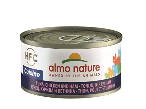 Almo Nature kattenvoering HFC kat natuur, 24 stuks, Thunisch/kip & ham, 70 g
