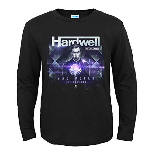 Herren T-Shirt Hardwell Langarm Shirt Herren T-Shirt Tee Shirts Gr. M, Schwarz