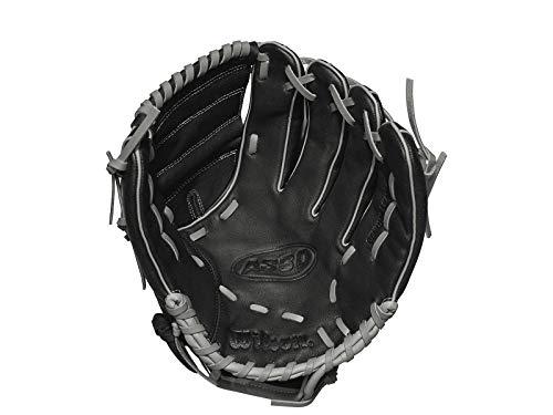 Wilson Unisex-Youth A360 12 LHT Baseball/Softball Gloves, Black Gold, 12LHT