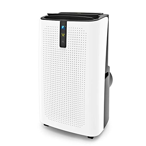 JHS 12,000 BTU Portable Air Conditioner Portable AC Unit, A018-12KR/A Upgraded Version Remote Control Air Cooler with Dehumidifier and Fan