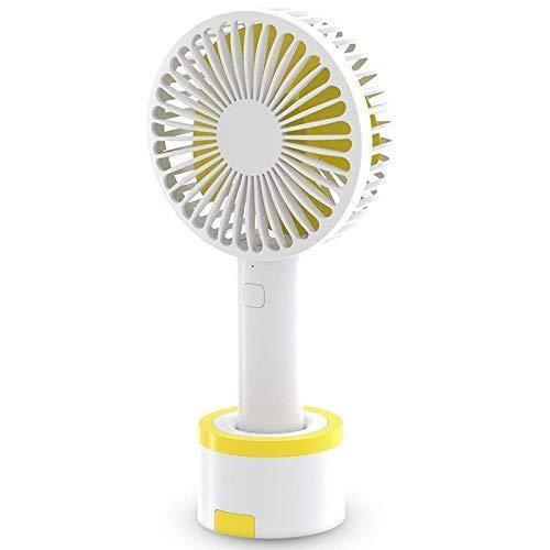 LIPENLI Ventilador de mano Personal del ventilador 3 velocidades de ventilador portátil fuerte flujo de aire del ventilador de escritorio Con Base Plus 6 pies del USB for el hogar, oficina, viajes, al