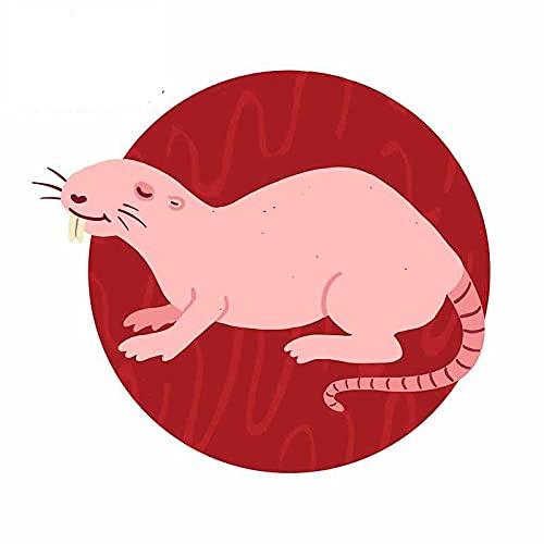 A/X 13 cm 11,7 cm para Rata Topo, Pegatinas de Estilo de Coche, Accesorios de Coche, calcomanía de Vinilo de Parachoques