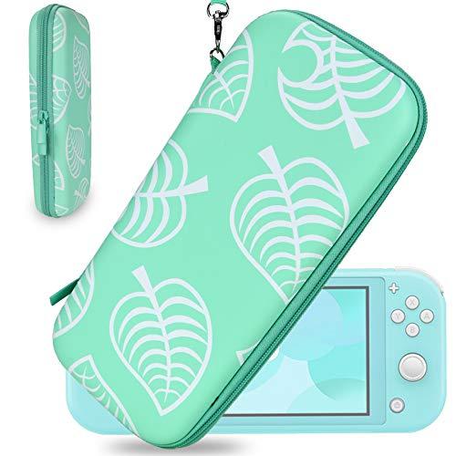 Funda para Nintendo Switch - Portátil Funda Protectora de Viaje con 10 Cartuchos de Juego para Nintendo Switch y Accesorios de YOUSHARES(Leaf Crossing)