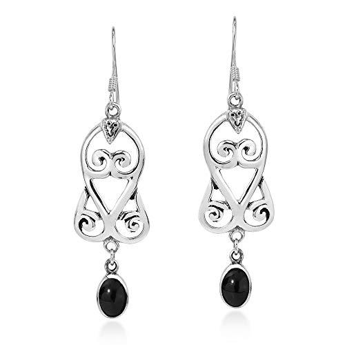 Graceful Swirl Sterling Earrings - 3
