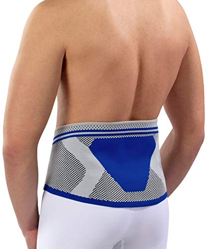 Nutrics | Aktiv Rückenbandage (Lendenwirbelbandage) | Damen und Herren | Unterstützend (L (96-110cm))