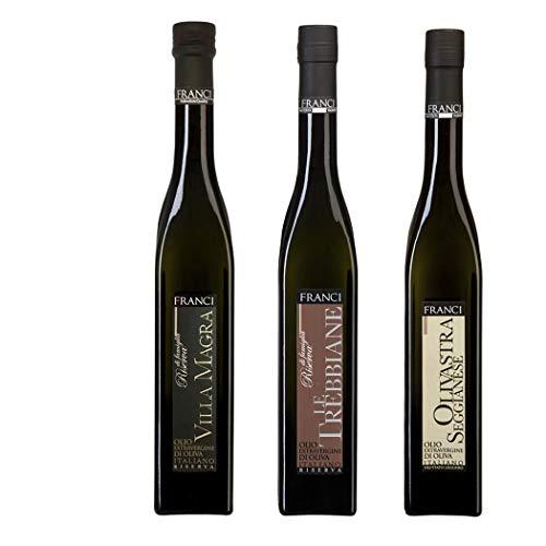 Natives Olivenöl Riserva Franci Auswahl: Villa Magra, Trebbiane, Olivastra 500 ml x 3