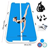 Airtrack Tumbling Mat 10CM Spessore 3M ginnastica gonfiabile Air Track Inflatable Gymnastics Air Track Flooring Mat Air Track tappetini Palestra with Electric Air Pump Home/Yoga/Camping/Gym Training