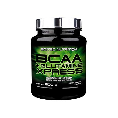 Scitec Nutrition BCAA + Glutamine Xpress, Fortified with Taurine, Sugar Free, 600 g, Long Island ice Tea
